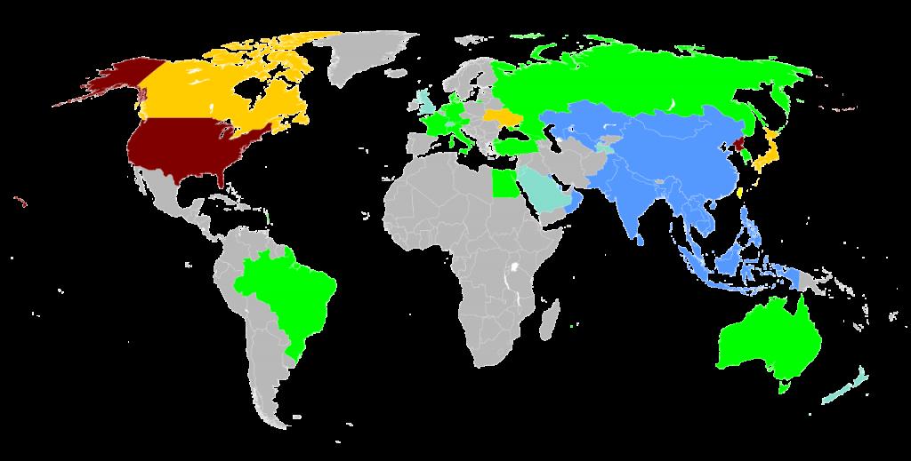 AIIBMap.svg-AIIB 黄色 考慮中